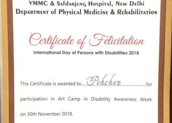 Certificate of Felicitation